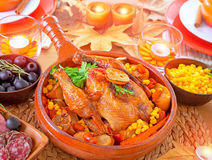 Thanksgiving day dinner Stock Photography