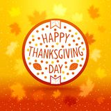 Thanksgiving day emblem Royalty Free Stock Photos