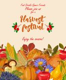 Thanksgiving day. Enjoy the season. Thanksgiving party poster with bright background. Harvest festival Stock Photos
