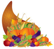 Thanksgiving Day Fall Harvest Cornucopia Stock Photo