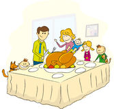 Thanksgiving day family picture Royalty Free Stock Photo