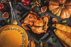 Thanksgiving Day food Stock Image