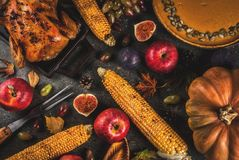 Thanksgiving Day food Royalty Free Stock Photos