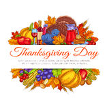 Thanksgiving Day greeting card decoration Stock Photo