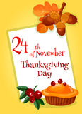 Thanksgiving Day greeting card design Royalty Free Stock Photos