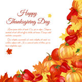 Thanksgiving Day Greeting Card Royalty Free Stock Photography