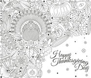 Thanksgiving day greeting card. Various elements for design Royalty Free Stock Photos