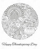 Thanksgiving day greeting card. Various elements for design Royalty Free Stock Image