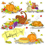 Thanksgiving day hand drawn collection Royalty Free Stock Photos