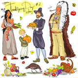 Thanksgiving day hand drawn collection. Set 2 Stock Photography