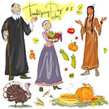 Thanksgiving day hand drawn collection. Set 3 Royalty Free Stock Photography