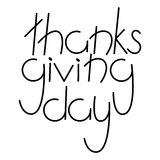 Thanksgiving Day Hand drawn lettering card Stock Photography