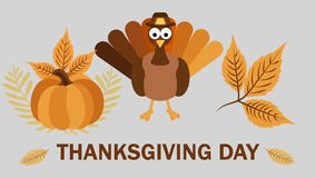 Thanksgiving Day. Happy Thanksgiving - holiday. Greeting card animation. 4K video
