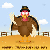 Thanksgiving Day Happy Turkey Greeting Royalty Free Stock Image