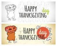 Thanksgiving day, happy vector illustration Stock Photo
