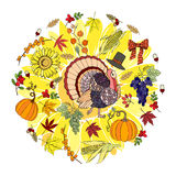 Thanksgiving day and harvest Stock Photos
