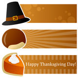Thanksgiving Day Horizontal Banners Stock Images