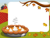 Thanksgiving day horizontal frame Pumpkin Pie countryside Stock Images