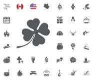Thanksgiving Day Icon set. Design elements illlustration vector. Shamrock lucky icon. Thanksgiving Day Icon set. Design elements illlustration vector Stock Photos