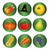 Thanksgiving day icons Stock Photo