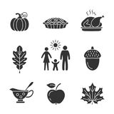 Thanksgiving day icons. Vector illustration Royalty Free Stock Photos