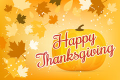 Thanksgiving day illustration card Royalty Free Stock Photography