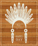 Thanksgiving day. Indian feathers. Stock Photo