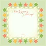 Thanksgiving day invitation card Stock Photo