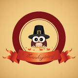 Thanksgiving day label Stock Image