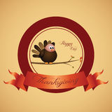 Thanksgiving day label Royalty Free Stock Photo