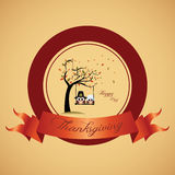 Thanksgiving day label Stock Photography