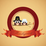 Thanksgiving day label Royalty Free Stock Images