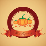 Thanksgiving day Label Stock Photo