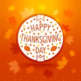 Thanksgiving day label Royalty Free Stock Photos