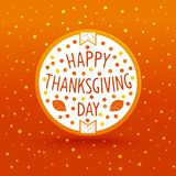 Thanksgiving day label Royalty Free Stock Photography