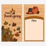 Thanksgiving day menu template Royalty Free Stock Photo