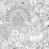 Thanksgiving day Naadloos Patroon vector illustratie