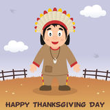 Thanksgiving Day Native Man Smiling Stock Image