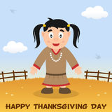 Thanksgiving Day Native Woman Smiling Royalty Free Stock Photos