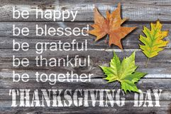Thanksgiving day on old wooden background