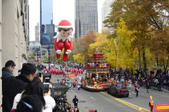 Thanksgiving Day Parade 2016 - New York City. Floats, costumes, and more of the Thanksgiving Day parade along Central Park in New York City Stock Photos