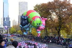Thanksgiving Day Parade 2016 - New York City. Floats, costumes, and more of the Thanksgiving Day parade along Central Park in New York City Royalty Free Stock Photo
