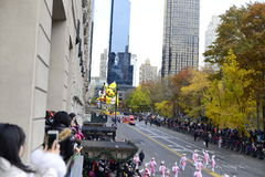 Thanksgiving Day Parade 2016 - New York City. Floats, costumes, and more of the Thanksgiving Day parade along Central Park in New York City Royalty Free Stock Photos