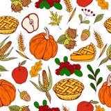 Thanksgiving day pattern Royalty Free Stock Image