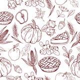 Thanksgiving day pattern Stock Image