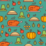 Thanksgiving Day pattern Stock Images