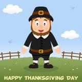 Thanksgiving Day Pilgrim Man Smiling Royalty Free Stock Photography