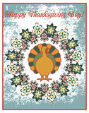 Thanksgiving Day retro poster Royalty Free Stock Image