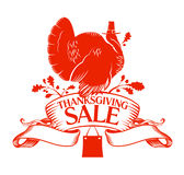 Thanksgiving Day sale. Royalty Free Stock Photo