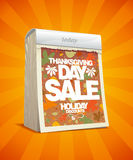 Thanksgiving day sale design in form of calendar. Stock Photography